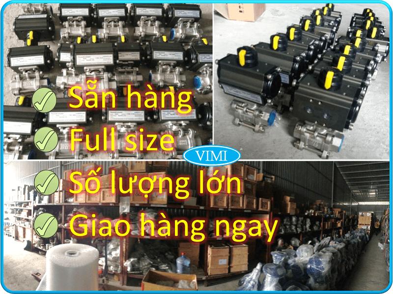 Kho chuyên cung cấp các sản phẩm van bi inox điều khiển khí nén 4