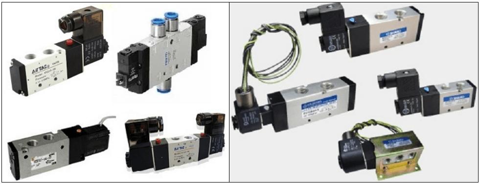 Bộ van điện từ – Đối với van điều khiển khí nén điện từ