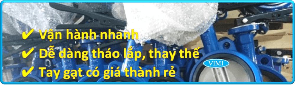 Tay gạt van bướm tay gạt Wonil Hàn Quốc thân gang cánh inox