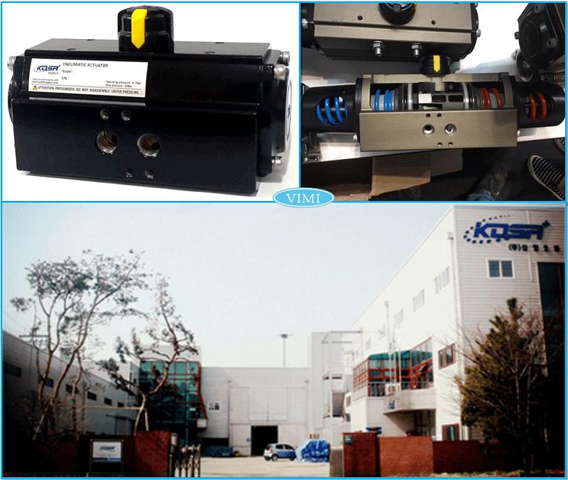 Thương hiệu van bướm inox điều khiển khí nén Kosaplus Hàn Quốc