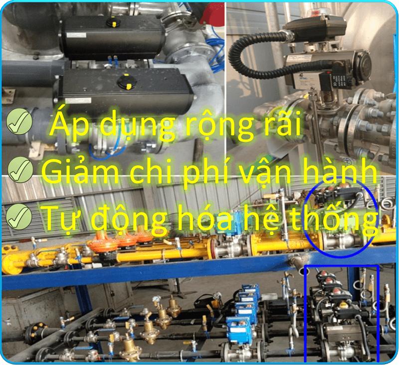 Van bi inox điều khiển bằng khí nén Haitima Đài Loan nối ren 7