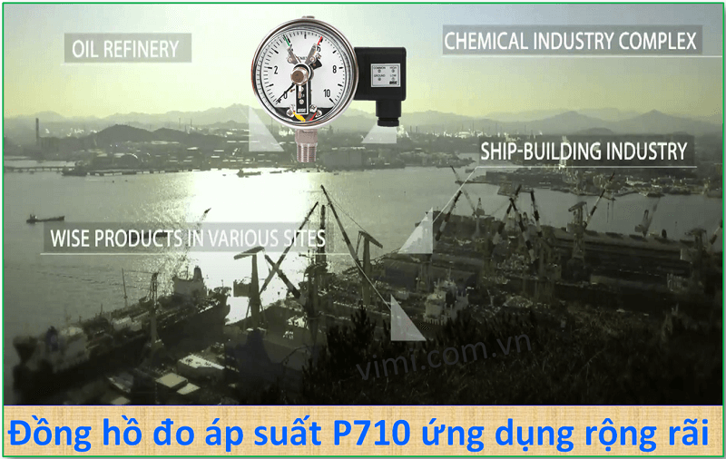 Đồng hồ đo áp suất P510 8