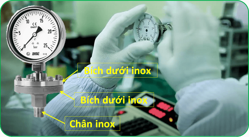 Đồng hồ áp suất P710 5