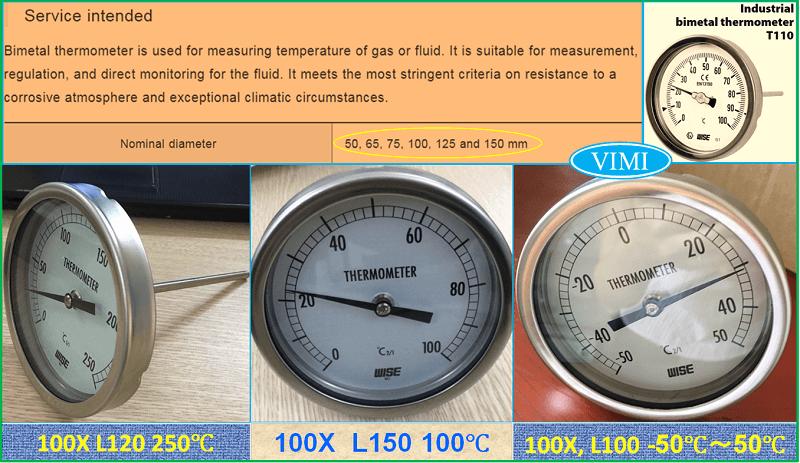 Đồng hồ đo nhiệt độ T110 7