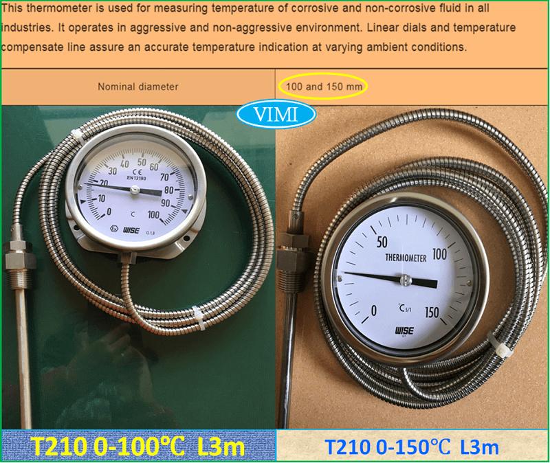 Đồng hồ đo nhiệt độ T210 6