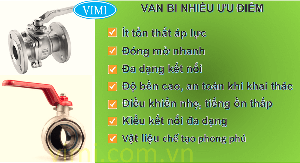 Ưu điểm của van bi là gì