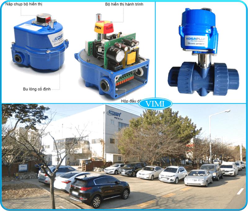 Van bi nhựa điều khiển điện kosaplus nối rắc co 5
