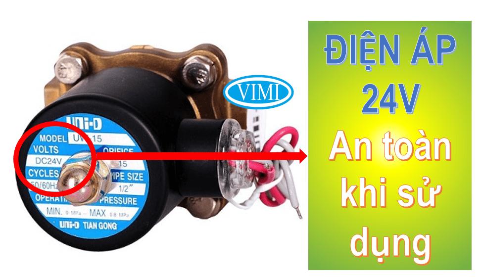 van điện từ hơi nóng Unid 24V rất an toàn