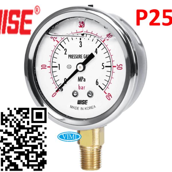 đồng hồ đo áp suất p254 wise hàn quốc 888
