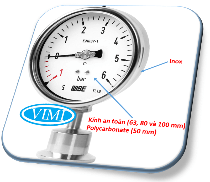 đồng hồ đo áp suất P752 wise hàn quốc 1