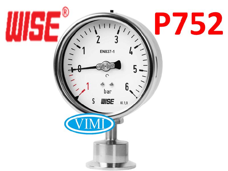 đồng hồ đo áp suất p752 wise hàn quốc