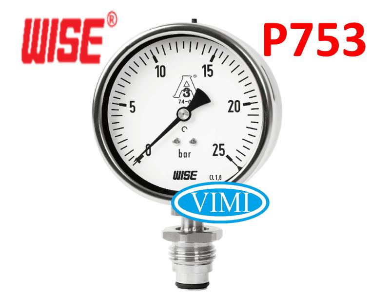 đồng hồ đo áp suất p753 wise hàn quốc