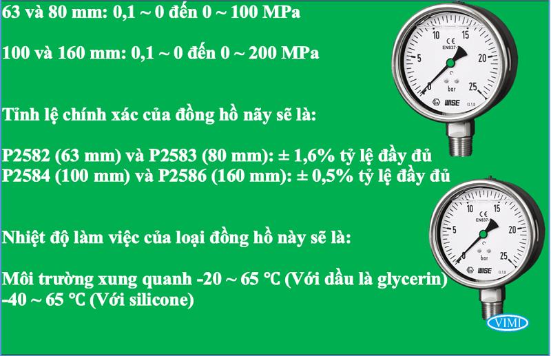 đồng hồ đo ap suất p258 wise hàn quốc 4