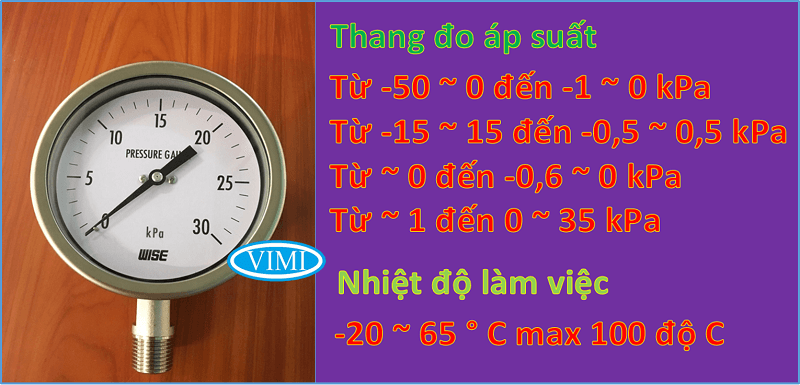 đồng hồ áp suất p421 wise hàn quốc 6