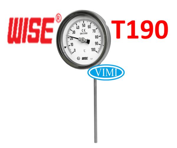 đồng hồ đo nhiệt độ t190 wise hàn quốc