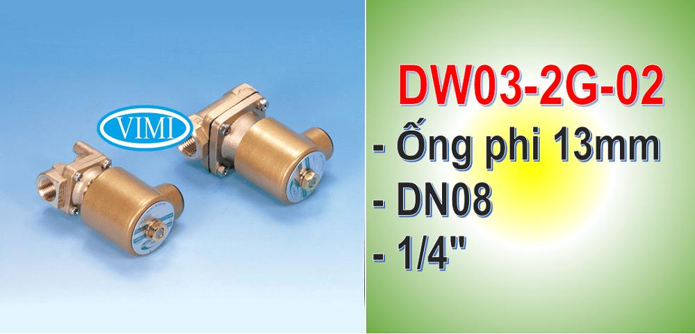 Van điện từ TPC DW03-2G-02 Hàn Quốc sử dụng cho đường ống phi 13mm