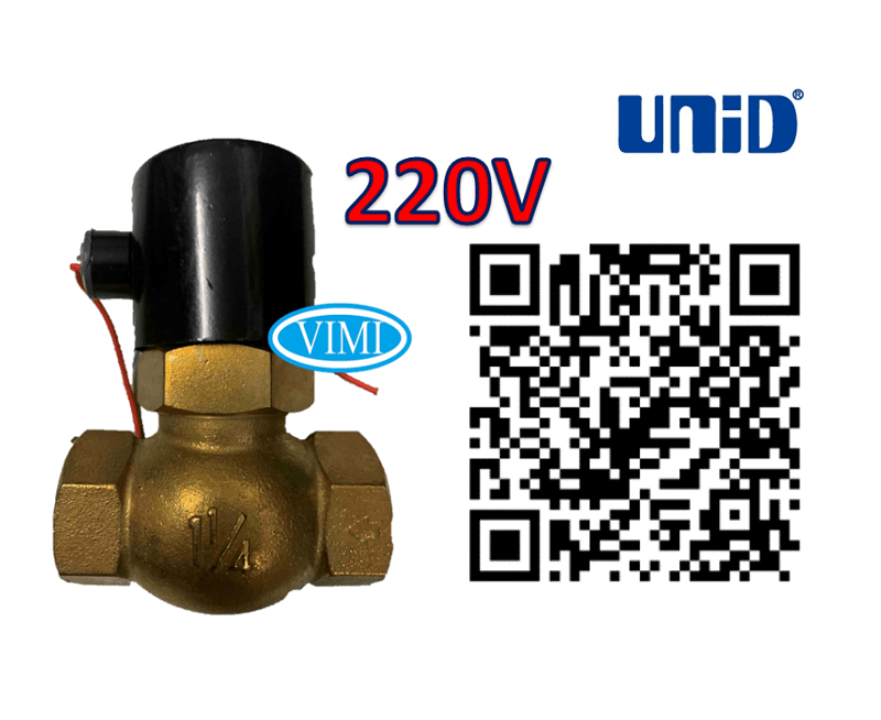 Van điện từ hơi nóng 220V