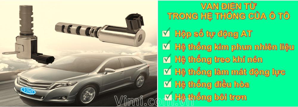 Ứng dụng van điện từ trong cơ khí ô tô là gì