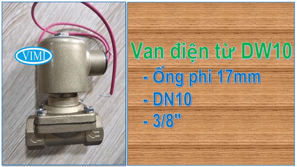 Van điện từ TPC DW10 được lắp đặt trên đường ống phi 17mm
