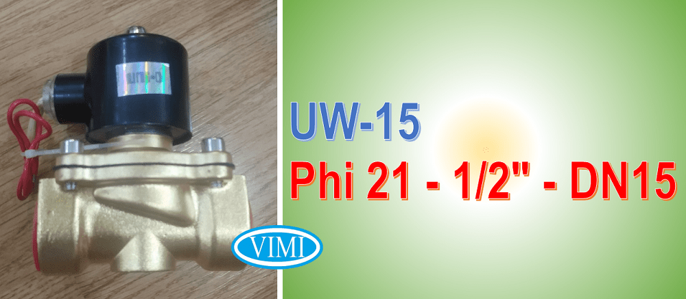 Van điện từ UW-15 sử dụng cho đường ống phi 21mm