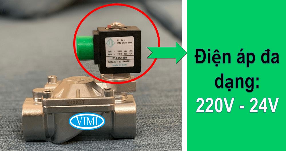 Sử dụng đa dạng các loại điện áp 220V hoặc 24V