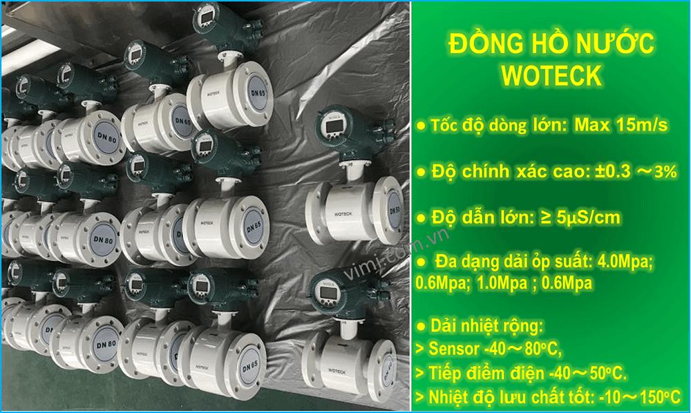 Đặc điểm đồng hồ nước woteck