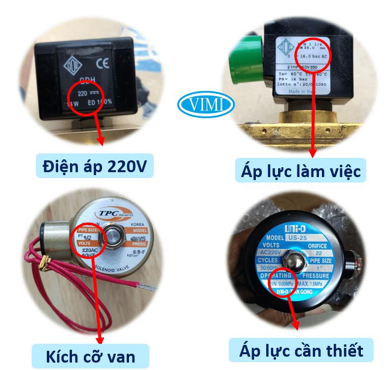 Xác định van điện từ có phù hợp với nhu cầu không?