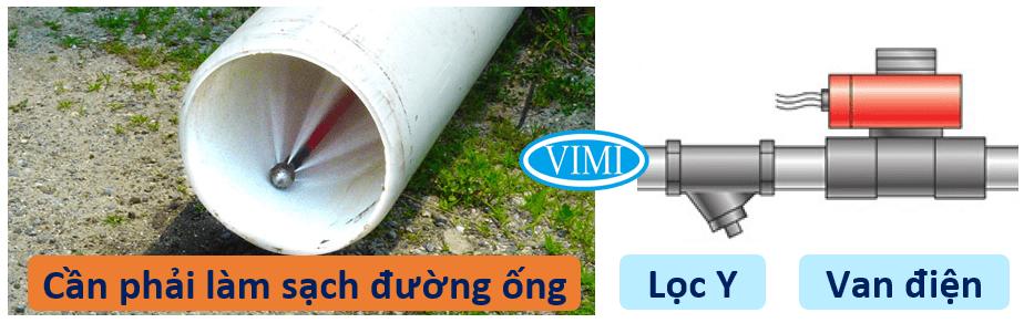 Kiểm tra đường ống lắp đặt van điện từ