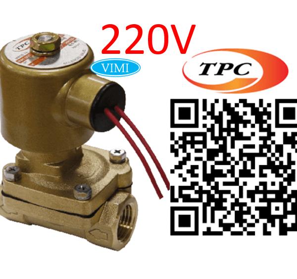 Van điện từ hơi nóng TPC 220V