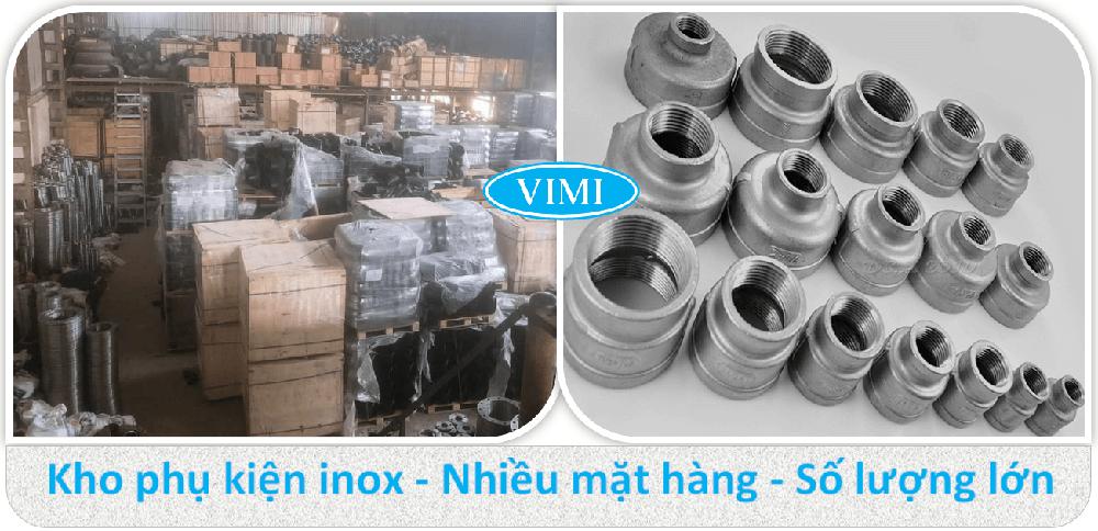 Côn thu ren inox 201-4