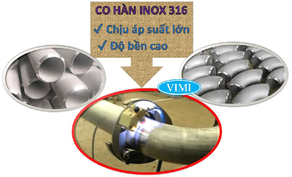 Chếch hàn inox 316-2