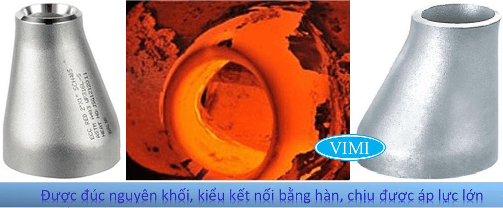 Côn thu lệch tâm inox 201-5