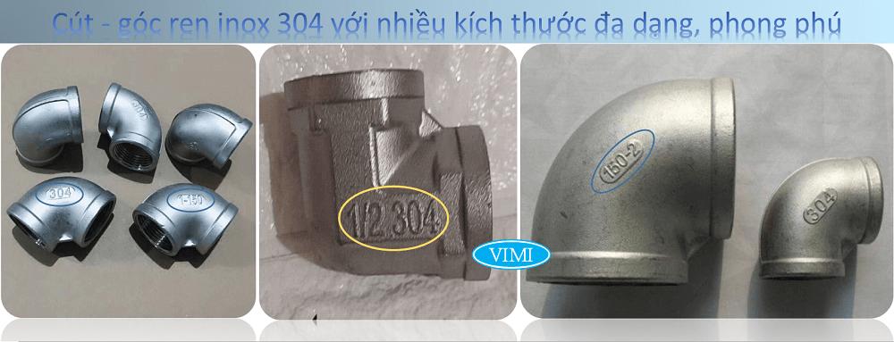 Cút góc ren inox 304-6