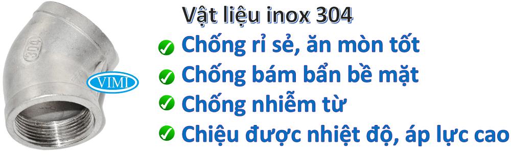 Chếch ren inox 304 2