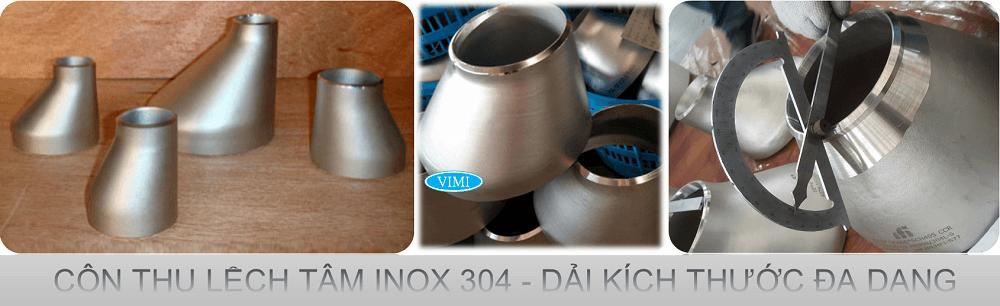 Côn thu lệch tâm inox 316-6