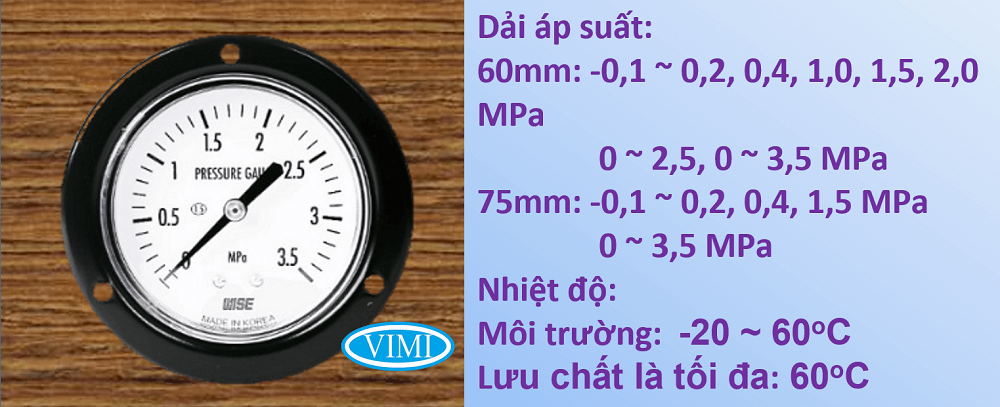 đồng hồ đo áp suất p112