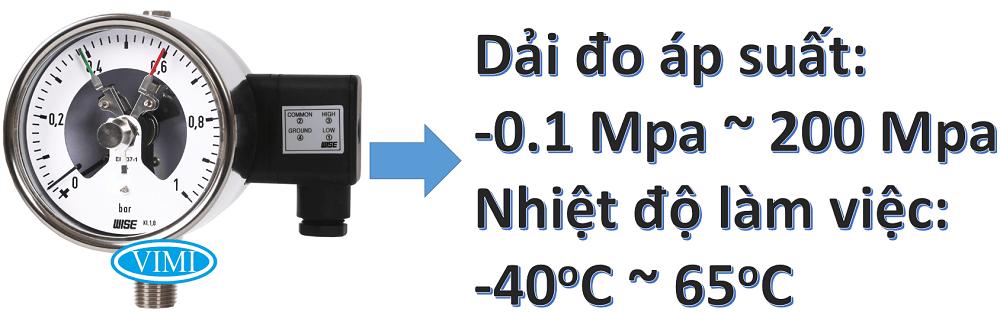 Đồng hồ đo áp suất p520 1