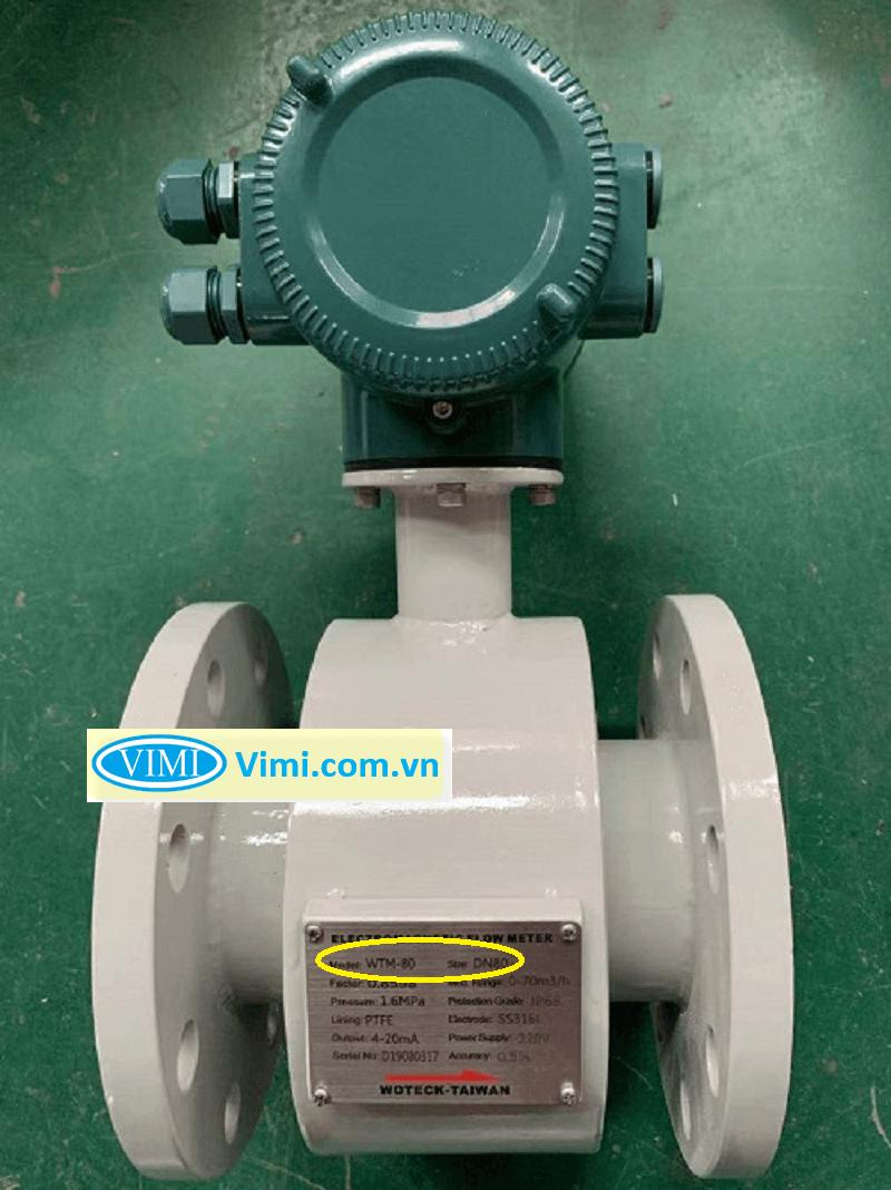 đồng hồ đo nước điện tử dn80 888