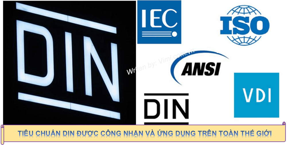 Phạm vi áp dụng tiêu chuẩn DIN phong phú