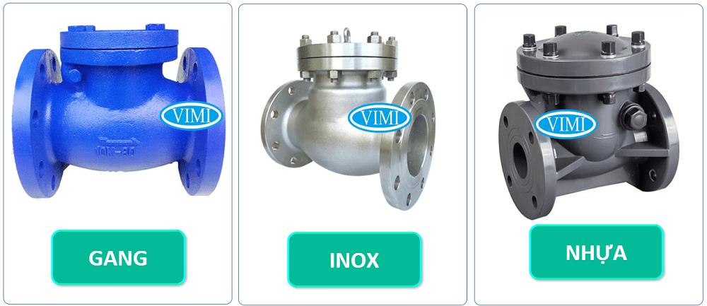 Vật liệu chế tạo đa dạng inox - gang - nhựa