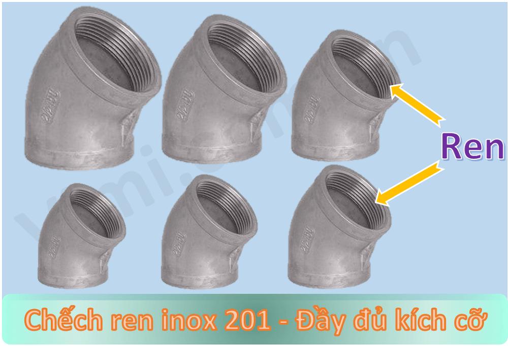 Chếch ren inox 201 -2