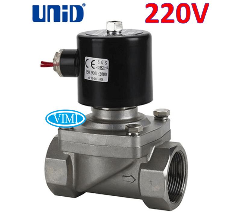 van điện từ inox unid 220V 3