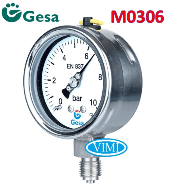 đồng hồ đo áp suất gesa m0306 3