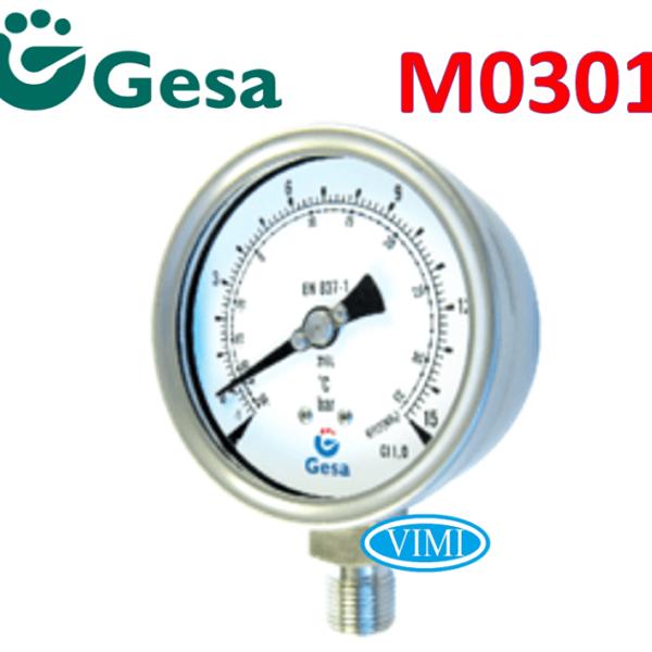 đồng hồ đo áp suất gesa m0301 5