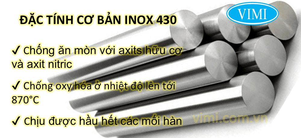 Những đặc tính nổi bật của inox 430 là gì