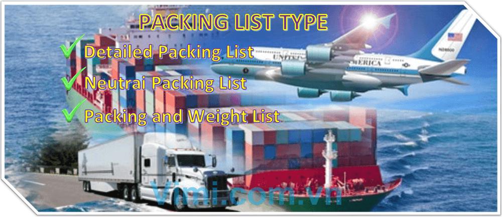Các loại packing list là gì