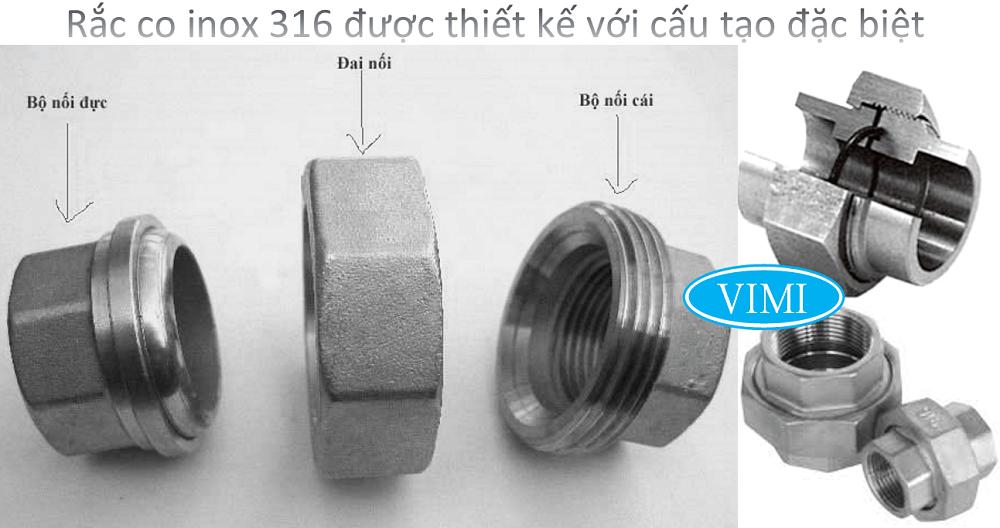 rắc co inox 316 8