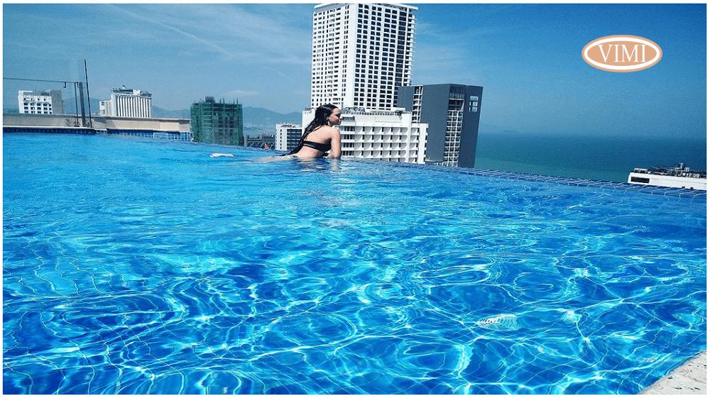 Ứng dụng lắp đặt trong bể bơi