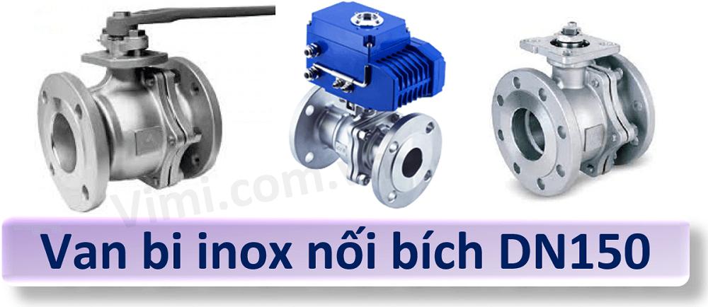 van bi inox nối bích DN150 1