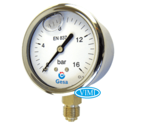 Đồng hồ đo áp suất gesa mặt 100mm 4